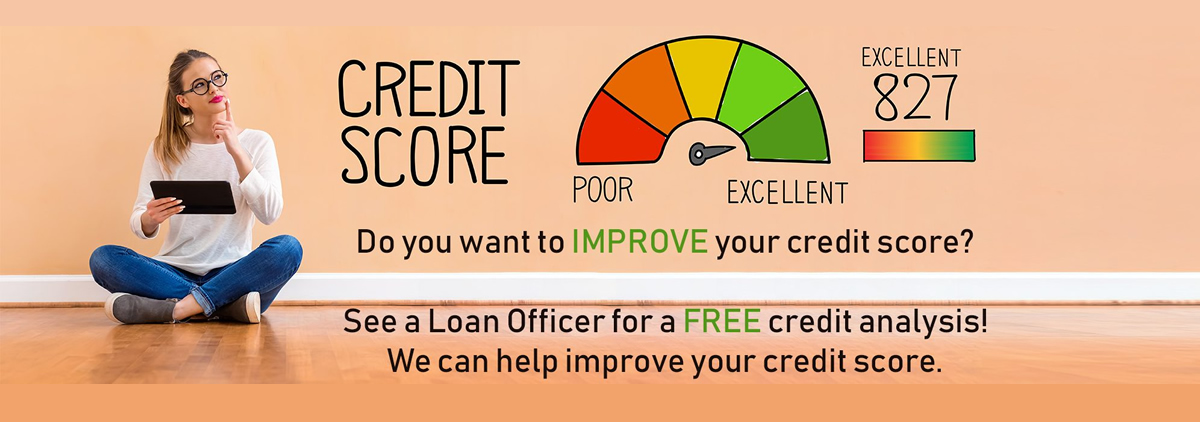 Let us help you with your credit score