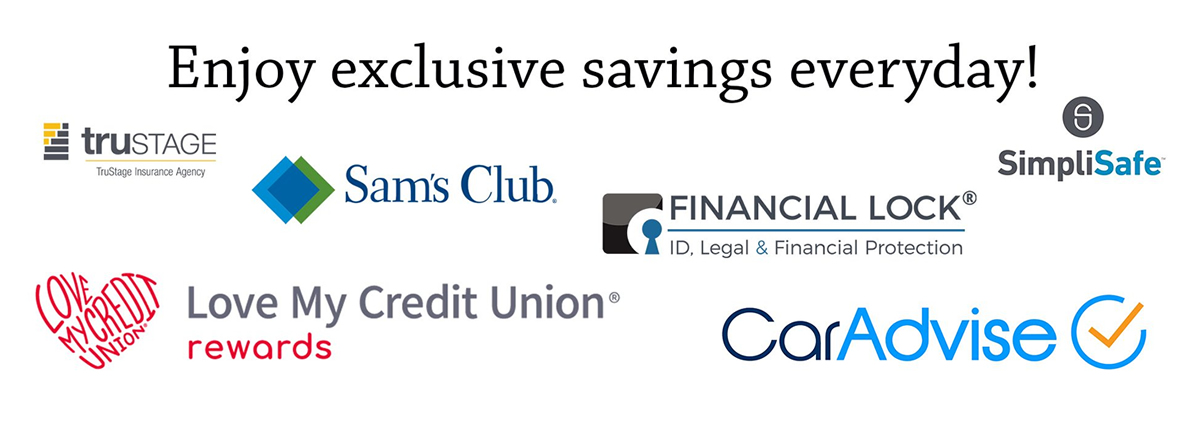 get discounts with love my credit union
